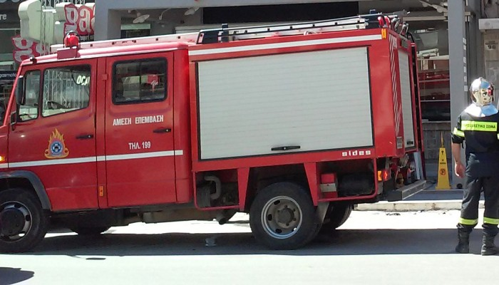 Μικρής έκτασης φωτιά εκδηλώθηκε σε πιτσαρία στα Χανιά (φωτο)