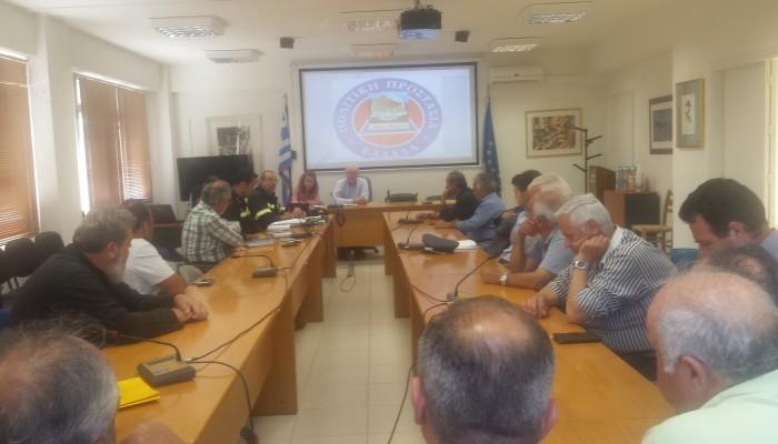Συνεδρίαση Συντονιστικού Οργάνου Πολιτικής Προστασίας Δήμου Βιάννου