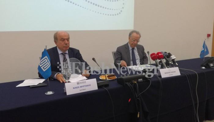 Το σχέδιο του για την Παγκρήτια Τράπεζα παρουσίασε ο Μιχ. Σάλλας