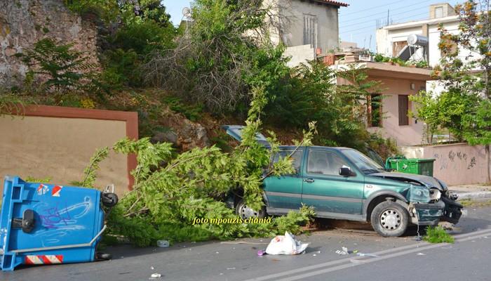 Δύο τροχαία ατυχήματα με το καλημέρα στα Χανιά