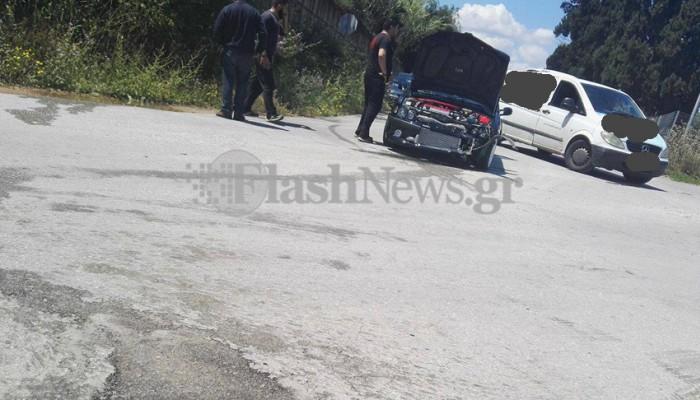 Τροχαίο με μηχανή στον παράλληλο της εθνικής οδού στα Χανιά