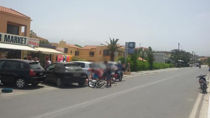 Δύο τραυματίες σε τροχαίο ατύχημα στον δρόμο της Χρυσής Ακτής (φωτο)