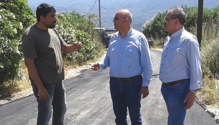 Αυτοψία Δημάρχου Χανίων,σε οδικές εργασίες στην Τοπική Κοινότητα Απτέρων