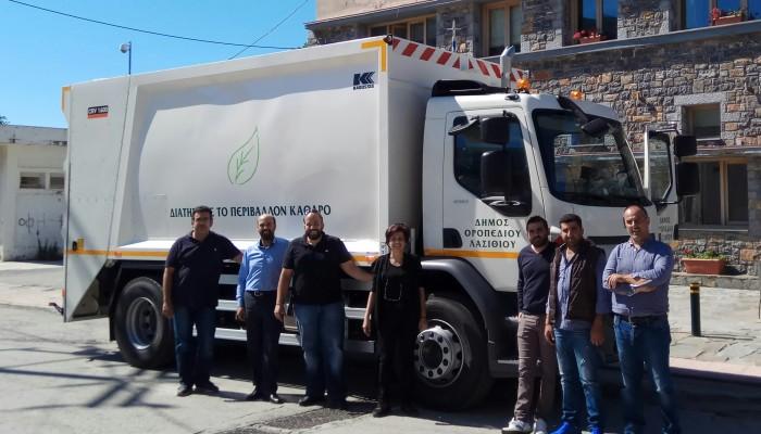 Νέο απορριμματοφόρο αναβαθμίζει την υπηρεσία καθαριότητας στο δ. Οροπεδίου