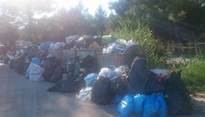 Βουνό τα σκουπίδια στους Αγίους Αποστόλους - Δείτε φωτογραφίες