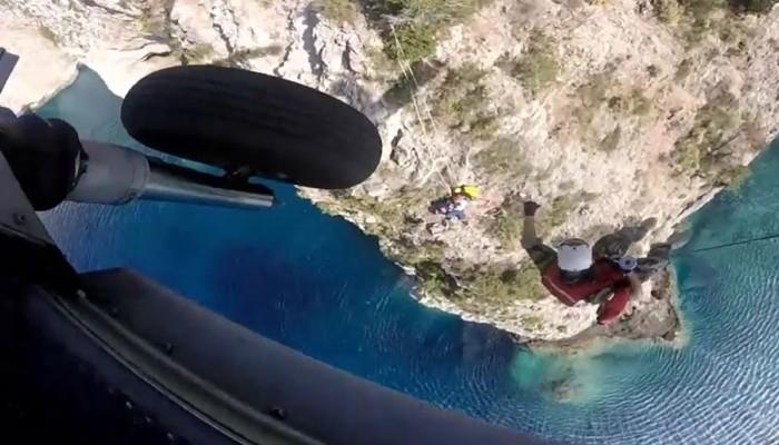 Ελικόπτερο Super Puma διασώζει τουρίστα στην Κεφαλονιά (φωτο-βιντεο)