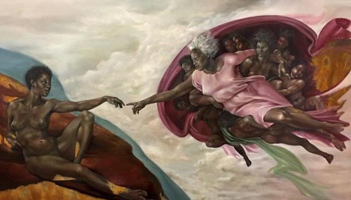 Ζωγράφισε τον Θεό ως μαύρη γυναίκα !