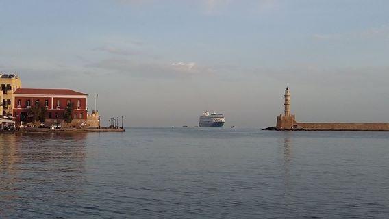Ολοήμερη παραμονή κρουαζιερόπλοιου στα Χανιά