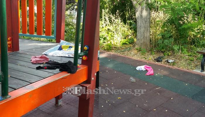 Βρώμα και δυσωδία στο «πάρκο» Άλκηστις Αγοραστάκη στα Χανιά (φωτο)