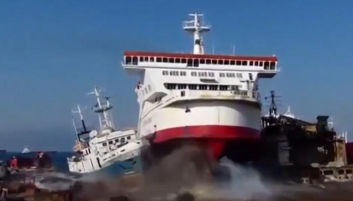 Πλοία που δεν υπολόγισαν σωστά την απόσταση