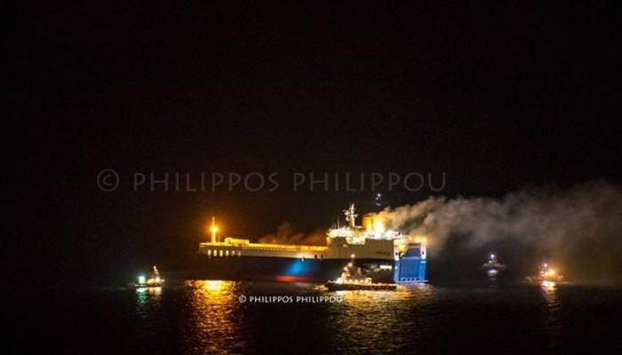 Κατασβέστηκε η πυρκαγιά στο πλοίο «med star» κοντά στη Ρόδο