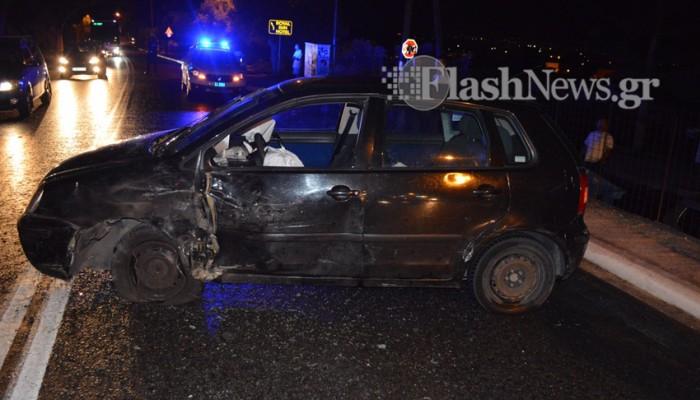 Σύγκρουση αυτοκινήτων στην Ακρωτηρίου - Δυο γυναίκες στο νοσοκομείο
