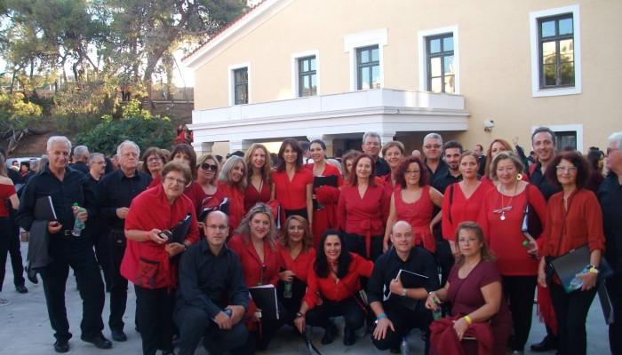 Η Μικτή Χορωδία Ηρακλείου στην ιστορική παράσταση για τον Μ.Θεοδωράκη