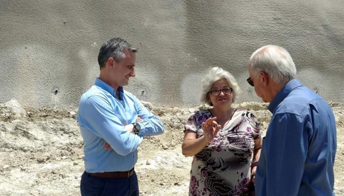 Στο έργο αντιστήριξης του πρανούς στην περιοχή Κορώνη-Μαγαρά ο Β. Λαμπρινός