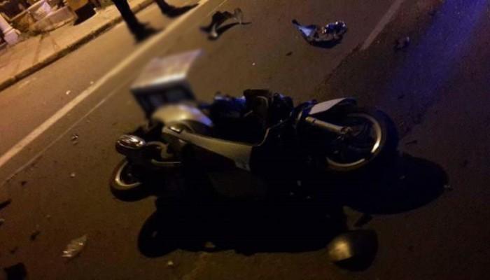 Τροχαίο ατύχημα με διανομέα φαγητού στην Κίσαμο στα Χανιά