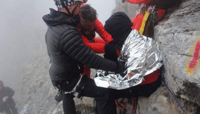 Εξαντλημένος ο  ορειβάτης, απεγκλωβίστηκε απο τον Όλυμπο