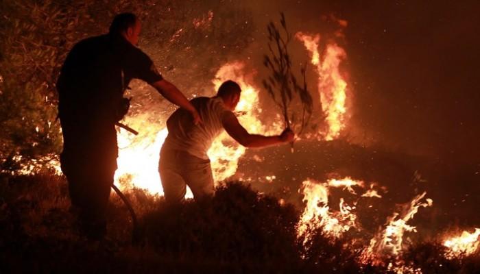 Άμεσος κίνδυνος απο πυρκαγιά στο Φραγκοκάστελλο στα Σφακιά