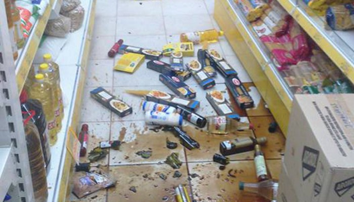 Ο σεισμός νότια της Ιεράπετρας έριξε τα ράφια σε σούπερ μάρκετ