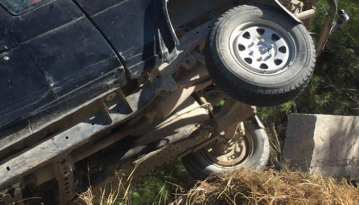Αυτοκίνητο έπεσε σε χαντάκι στα Χανιά