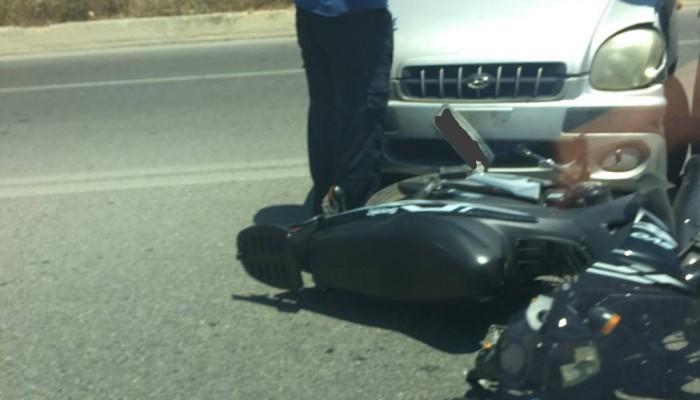 Τροχαίο με τραυματισμό στην εθνική οδό Χανίων - Κισσάμου (φωτο)