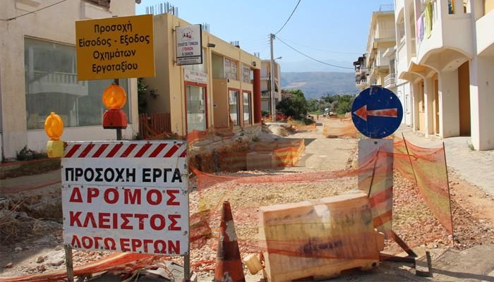 """Αυτοψία σε """"Σύνδεση κόμβου Μουρνιών του Β.Ο.Α.Κ. με την πόλη των Χανίων"""