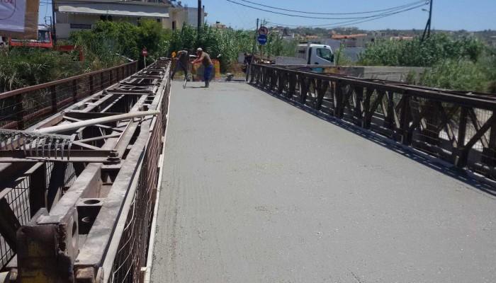 Ολοκληρώθηκαν οι εργασίες της γέφυρας στις Τρεις Βαγιές
