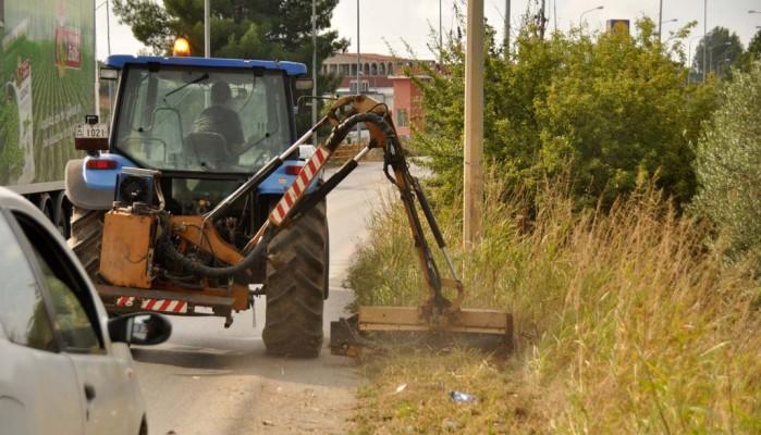 Καθαρισμός δρόμων στην Περιφερειακή Ενότητα Ρεθύμνης
