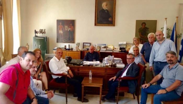 Συνάντηση Μ. Κεφαλογιάννη - Β. Λαμπρινού για θέματα του Ηρακλείου