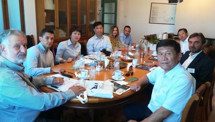 Ξενάγηση Κινέζων στον Οργανισμό Λιμένος Ηρακλείου