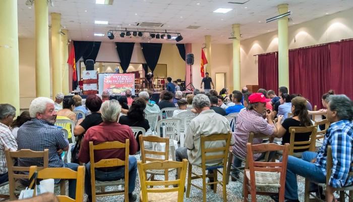Η προφεστιβαλική εκδήλωση ΚΝΕ-ΟΔΗΓΗΤΗ στη Παλαιόχωρα Χανίων