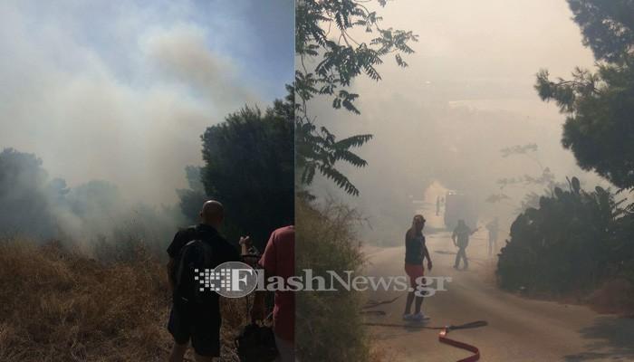 Πυρκαγιά στο δάσος Προφήτη Ηλία στα Χανιά - Κινδύνεψαν σπίτια (φωτο)