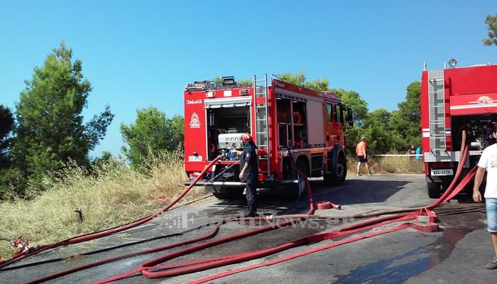 Σε ύφεση η πυρκαγιά στην Ροδιά