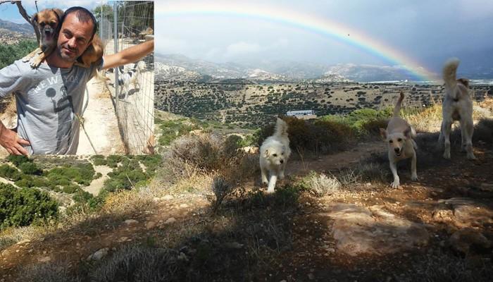 Ο άντρας που ζει στην Κρήτη συντροφιά με διακόσια πενήντα σκυλιά
