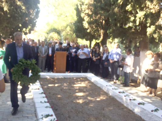 Φόρο τιμής απότισε ο Νότης Μαριάς στους 27 εκτελεσθέντες του Σοκαρά