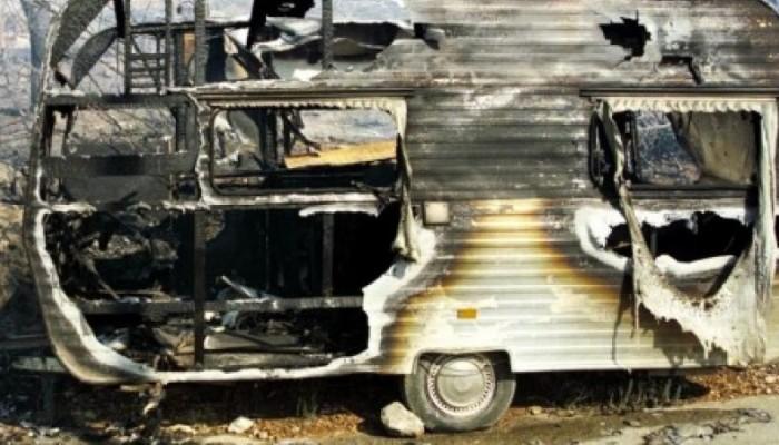 Πυρκαγιά σε τροχόσπιτο στον Σταυρό Ακρωτηρίου στα Χανιά