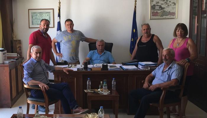 Συνάντηση Σωκράτη Βαρδάκη με τον Δήμαρχο Φαιστού