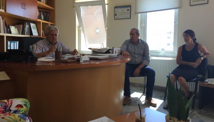 Επίσκεψη Σ. Βαρδάκη στο δημαρχείο Μαλεβιζίου για τα προβλήματα του Δήμου