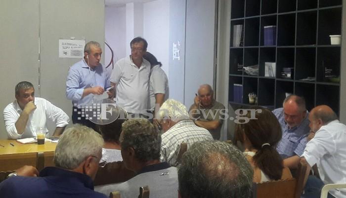 Βερναδάκης και Φωτάκης στην ΝΕ Ηρακλείου ΣΥΡΙΖΑ  (φωτο)