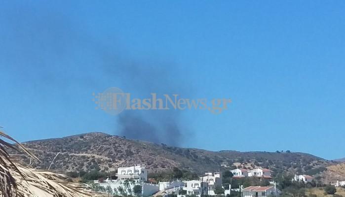 Πυρκαγιά ξέσπασε στο ΧΥΤΑ της Κουντούρας (φωτο)