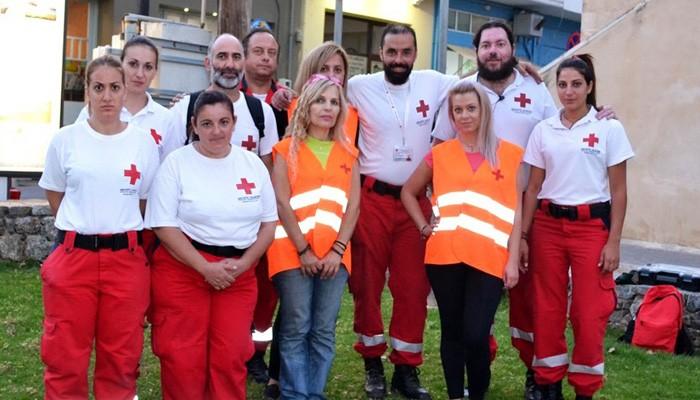 Επίδειξη πρώτων βοηθειών απο τους εθελοντές Σαμαρείτες Κισάμου