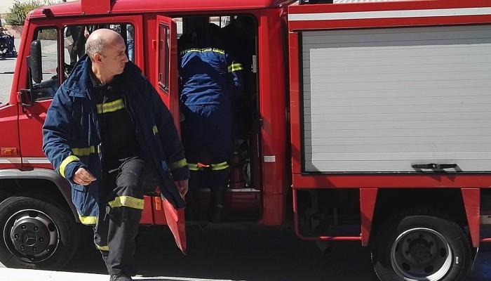 Φωτιά σε σχολείο στα Χανιά (φωτό)
