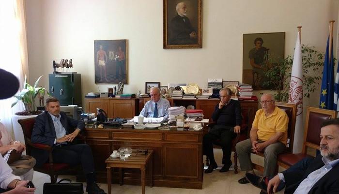 Σύσκεψη για το Δικαστικό Μέγαρο στον Δήμο Ηρακλείου