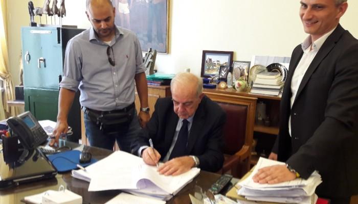 Υπεγράφη η σύμβαση για την ανάπλαση Δικαιοσύνης - Ίδης - Καλοκαιρινού