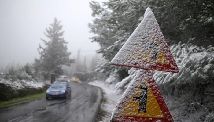 Στον πάγο η χώρα:  Η κατάσταση του οδικού δικτύου - Ενημέρωση της ΕΛ.ΑΣ.