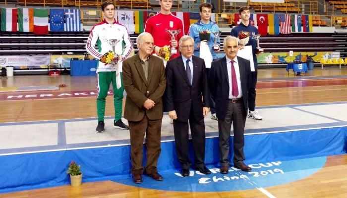 Ο Δήμαρχος Ηρακλείου Βασίλης Λαμπρινός στο Παγκόσμιο Κύπελλο Ξιφασκίας
