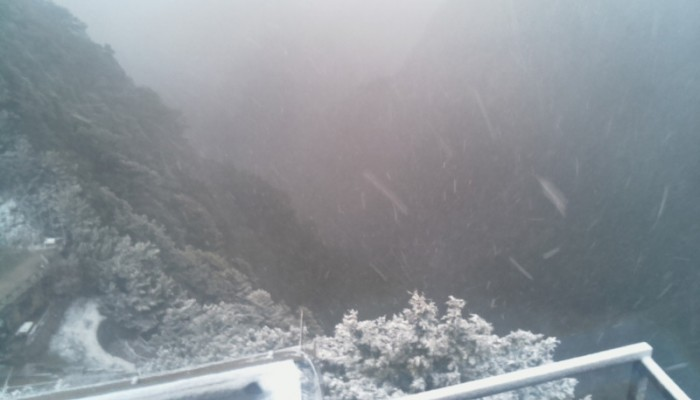 Χιονίζει στον Ομαλό -Live εικόνα από το Ξυλόσκαλο (φωτο)