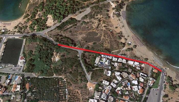 Οριστικό! Ξηλώνεται ο δρόμος στην Χρυσή Ακτή στα Χανιά
