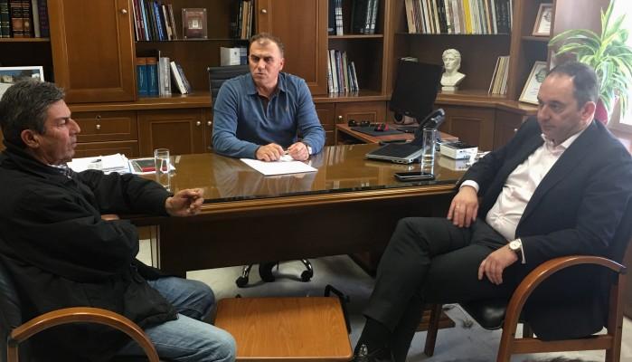 Με τον Γ. Πλακιωτάκη συναντήθηκε ο δήμαρχος Ιεράπετρας