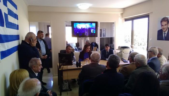 Τις κατευθύνσεις των εκλογών για τη ΝΔ έδωσε στα Χανιά η Ντόρα Μπακογιάννη