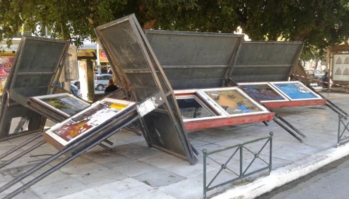 Ξήλωσαν τις «Εικόνες» από την πλατεία της Δημοτικής Αγοράς